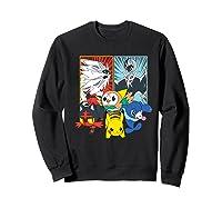 Alola Starters With Legendaries Shirts Sweatshirt Black