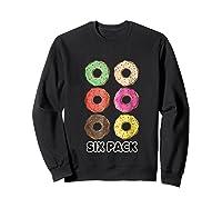Funny Donut Six Pack Muscle T Shirt Sweatshirt Black