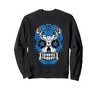 Scottish Flag Sugar Skull Shirts Sweatshirt Black