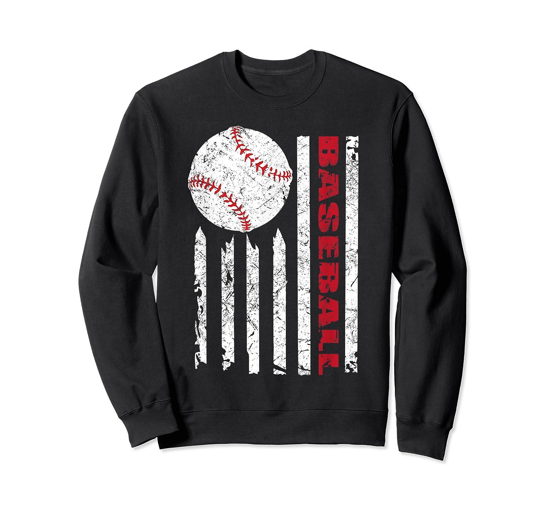 American Flag Baseball | July 4th Usa Flag Patriotic Design T-shirt Crewneck Sweater