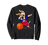 Dog Dabbing Haiti Basketball Haitian Sport Team Shirts Sweatshirt Black