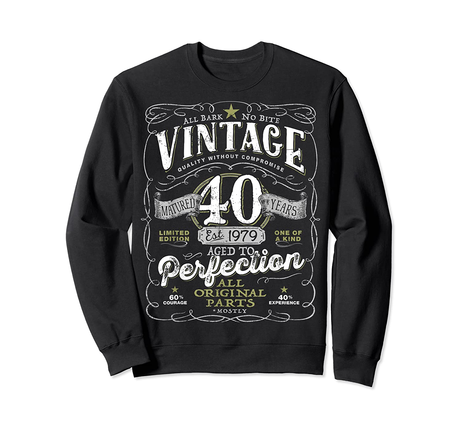 Vintage 40th Birthday Shirt, 1979, Aged To Perfection Crewneck Sweater