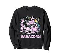 Father's Day Gif Funny Dadacorn Shirts Sweatshirt Black