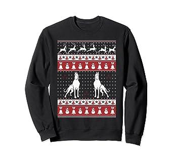Amazon.com: Great Dane Ugly Christmas Sweater Xmas Sweatshirt: Clothing