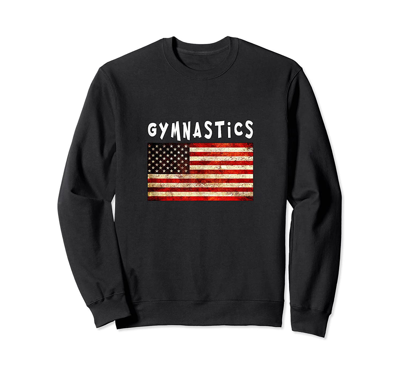 Gymnastics Usa American Flag Apparel Gymnast Grunge Design Shirts Crewneck Sweater