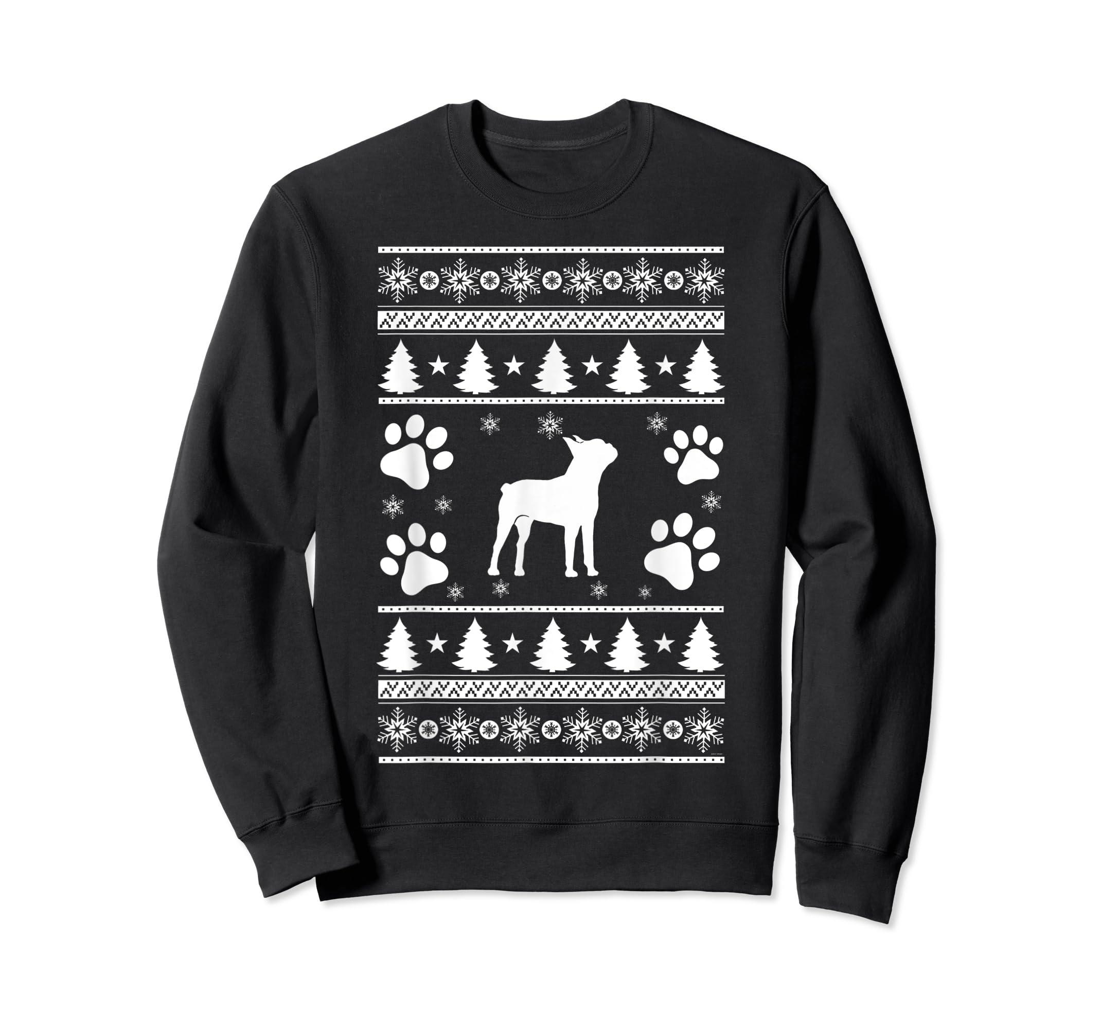 Boston Terrier lovers ugly christmas gift T-Shirt-Sweatshirt-Black