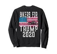 (print On Back) Bikers For Trump T-shirt Motorcycle Rally Sweatshirt Black