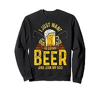 Funny Beer And Fishing Fathers Day Gift Adult Humor Shirts Sweatshirt Black