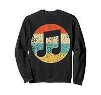 Musician Retro Musical Notes T-shirt Sweatshirt Black