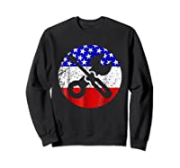 American Flag Car Mechanic Shirt - Screwdriver Wrench Shirt Sweatshirt Black