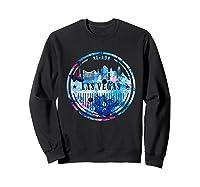 Watercolor Las Vegas Shirt Nevada City Gift Sweatshirt Black