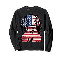 Funny Hovawart American Flag 4th Of July Shirts Sweatshirt Black