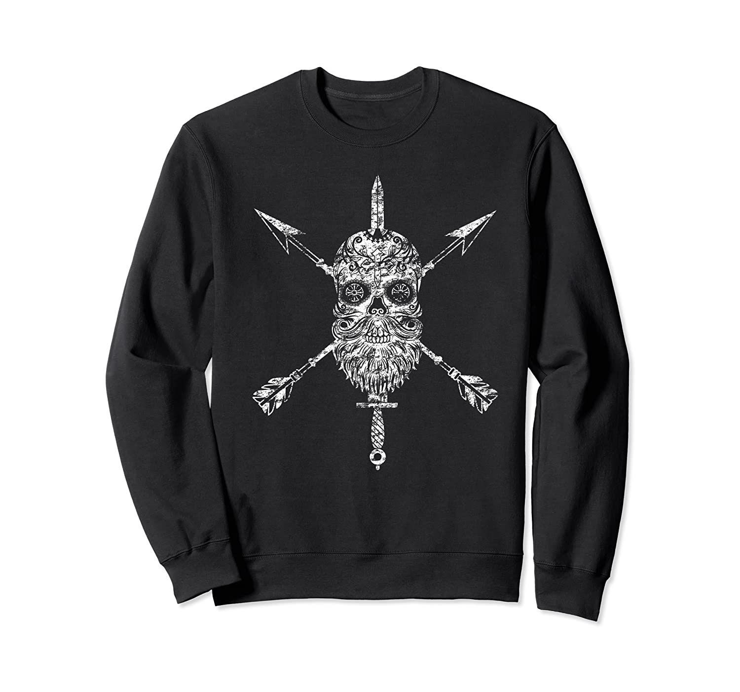 Vintage Sugar Skull Special Forces Military Tribute Design Shirts Crewneck Sweater