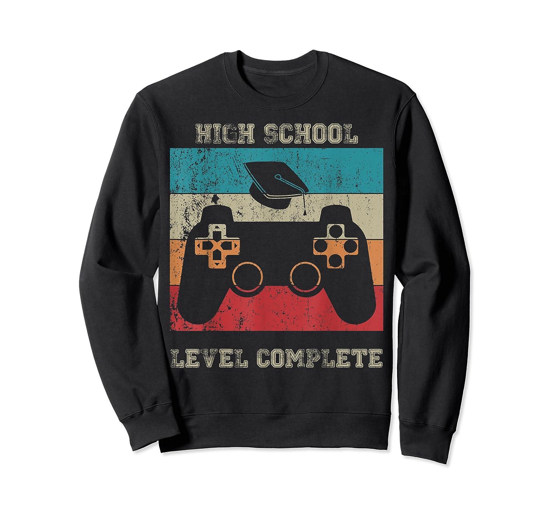 High School Graduation Shirt Level Complete Video Gamer Gift Crewneck Sweater
