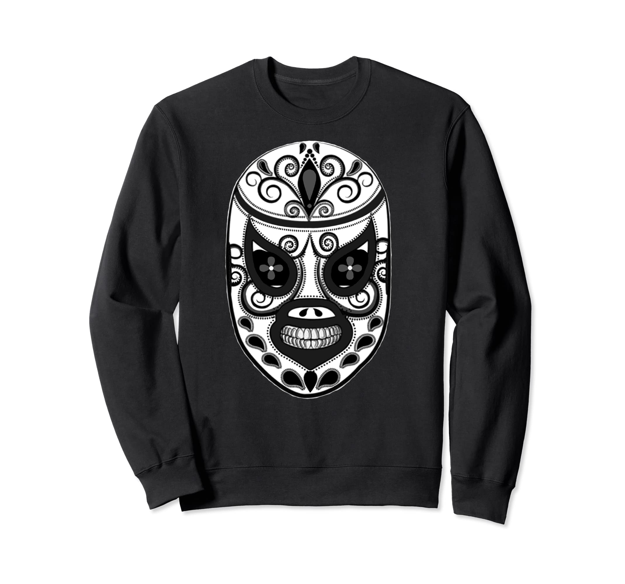 Amazon.com: Feel-Ink Lucha Libre El Santo Dia De Muertos Long Sleeve: Clothing