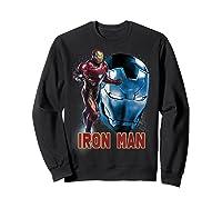 Avengers Endgame Iron Man Side Profile Graphic Shirts Sweatshirt Black