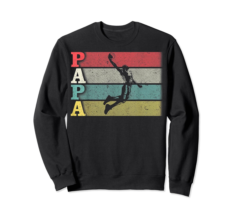 Vintage Retro Basketball Papa Shirt Funny Dad/father's Day T-shirt Crewneck Sweater
