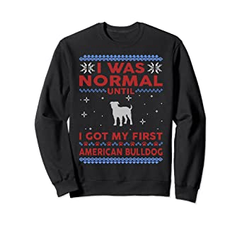 american bulldog ugly christmas sweater pullover jumper