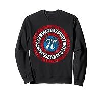 Captain Pi Superhero Shield Funny Math Pi Day Shirts Sweatshirt Black
