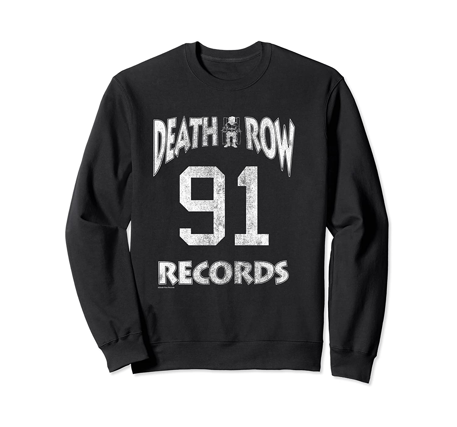 Death Row Records Athletic 91 Distressed T-shirt Crewneck Sweater