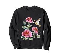 Hummingbird With Roses T For Shirts Sweatshirt Black