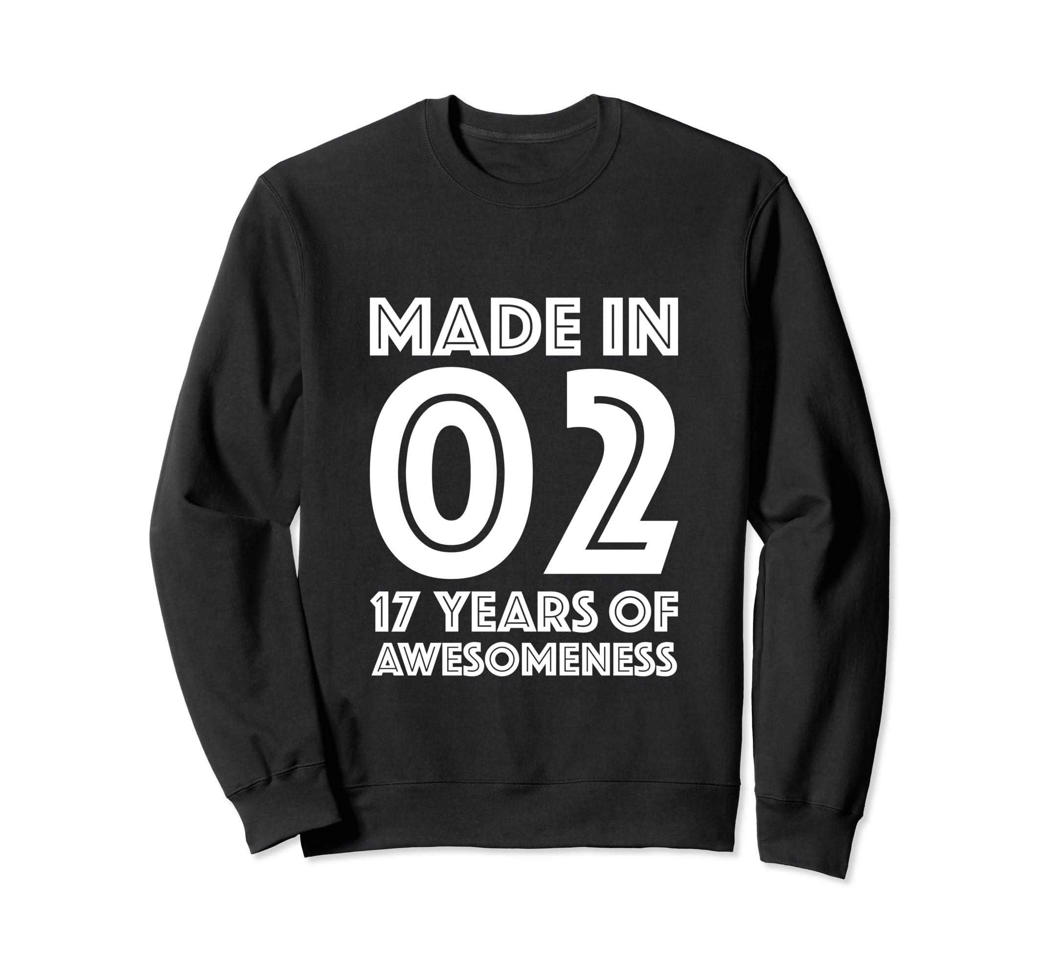 Amazon 17th Birthday Sweatshirt Boys Gift 17 Year Old Son Seventeen Clothing