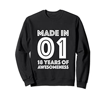 Image Unavailable Not Available For Color 18th Birthday Sweatshirt Boys Gift 18 Year Old Son Eighteen