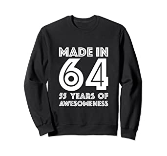Amazon 55th Birthday Sweatshirt For Grandma 55 Year Old Mom