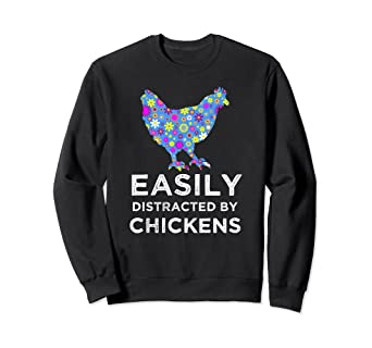 Amazon.com  Cute Chicken Sweatshirts For Women And Girls - Unique ... 4a5069805
