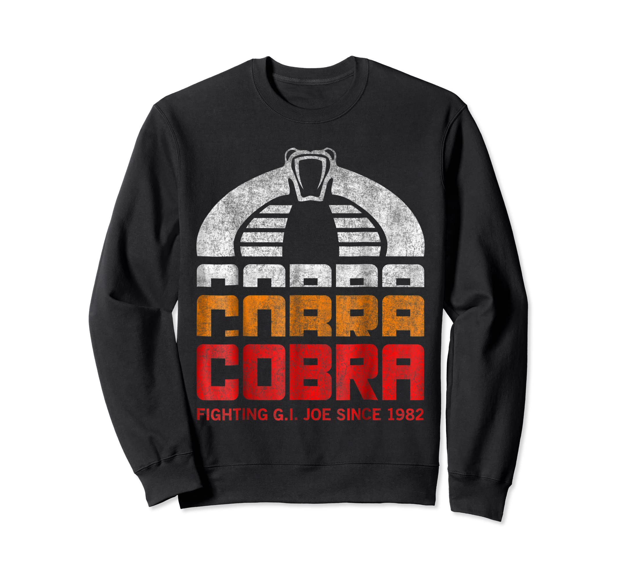 G.I. Joe Retro Cobra Fighting Since 1982 T-Shirt-Sweatshirt-Black