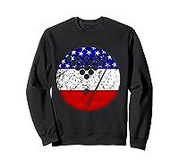 American Flag Billiards Vintage Retro Pool Shirts Sweatshirt Black