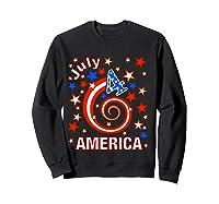 Festive 4th Of July, Independence Day Design Shirts Sweatshirt Black