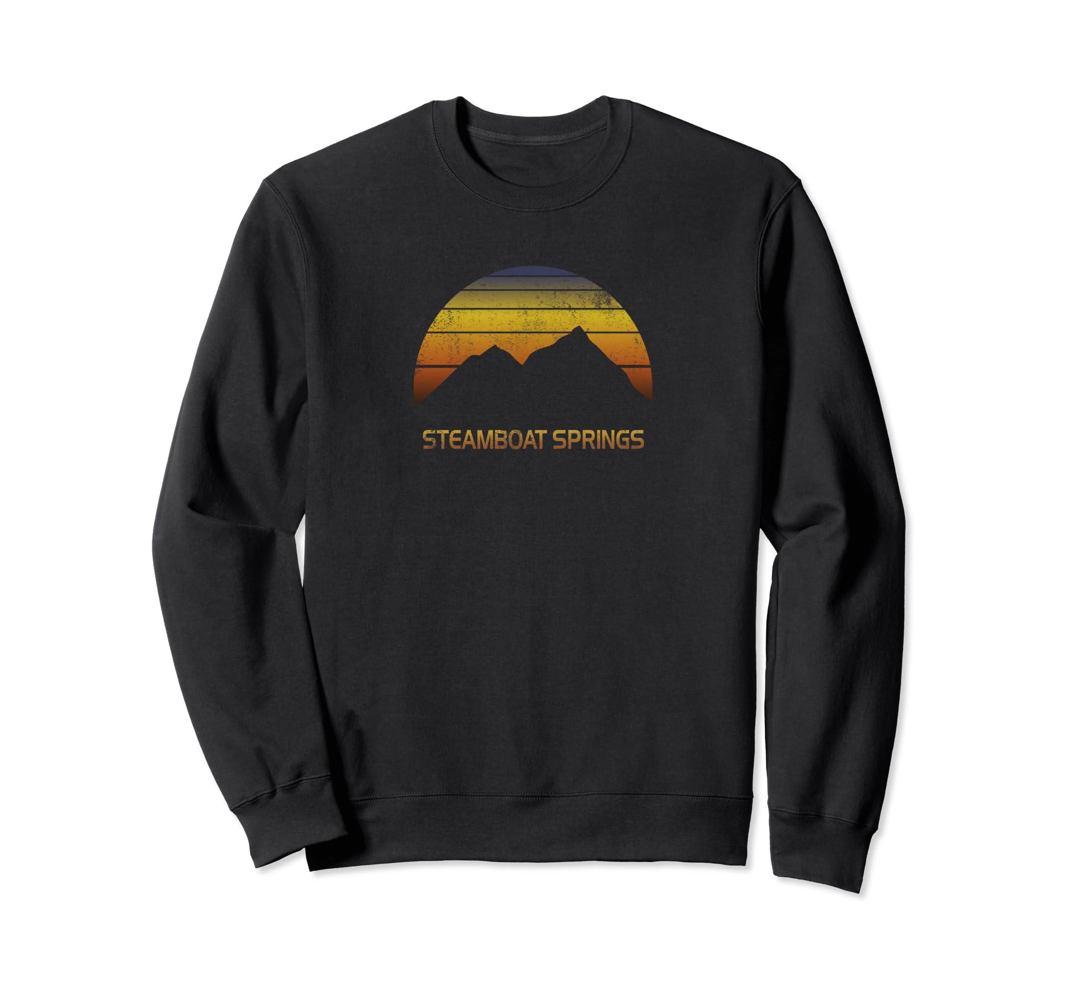 Sweatshirt Steamboat Springs Colorado Ski Snowboard Clothes-Teehay