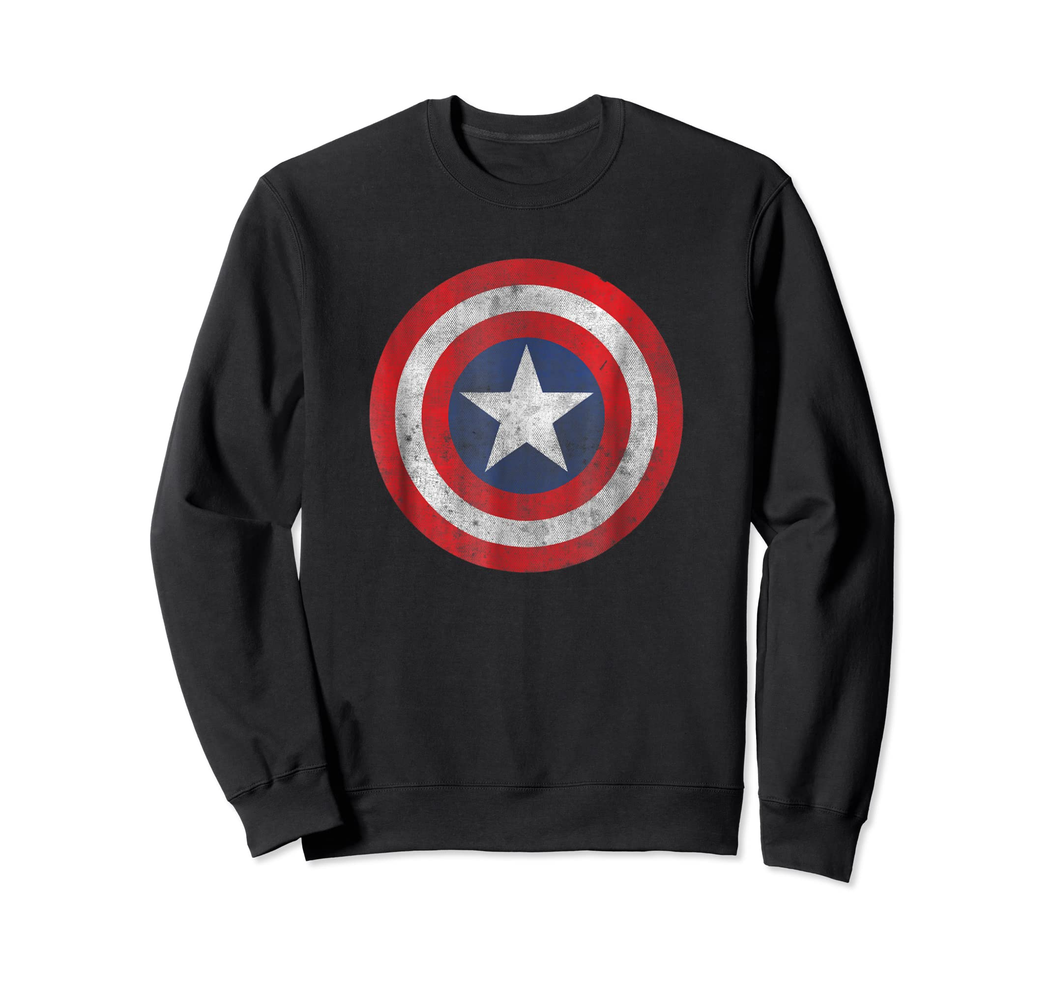 Marvel Captain America Classic Shield Graphic T-Shirt-Sweatshirt-Black