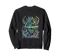 Flat Earth Monster Shirts Sweatshirt Black