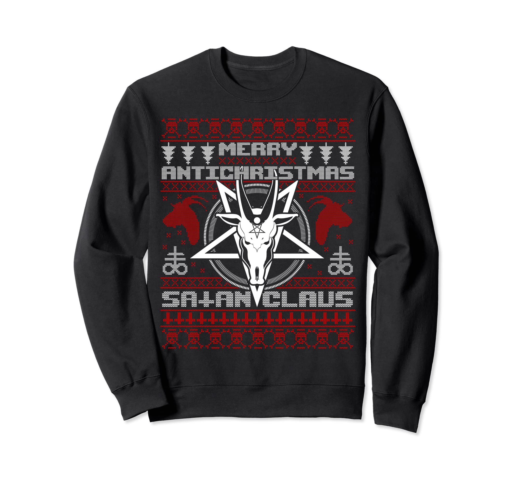 Satanic Christmas Sweater.Merry Antichristmas Satan Claus Satanic Ugly Sweater