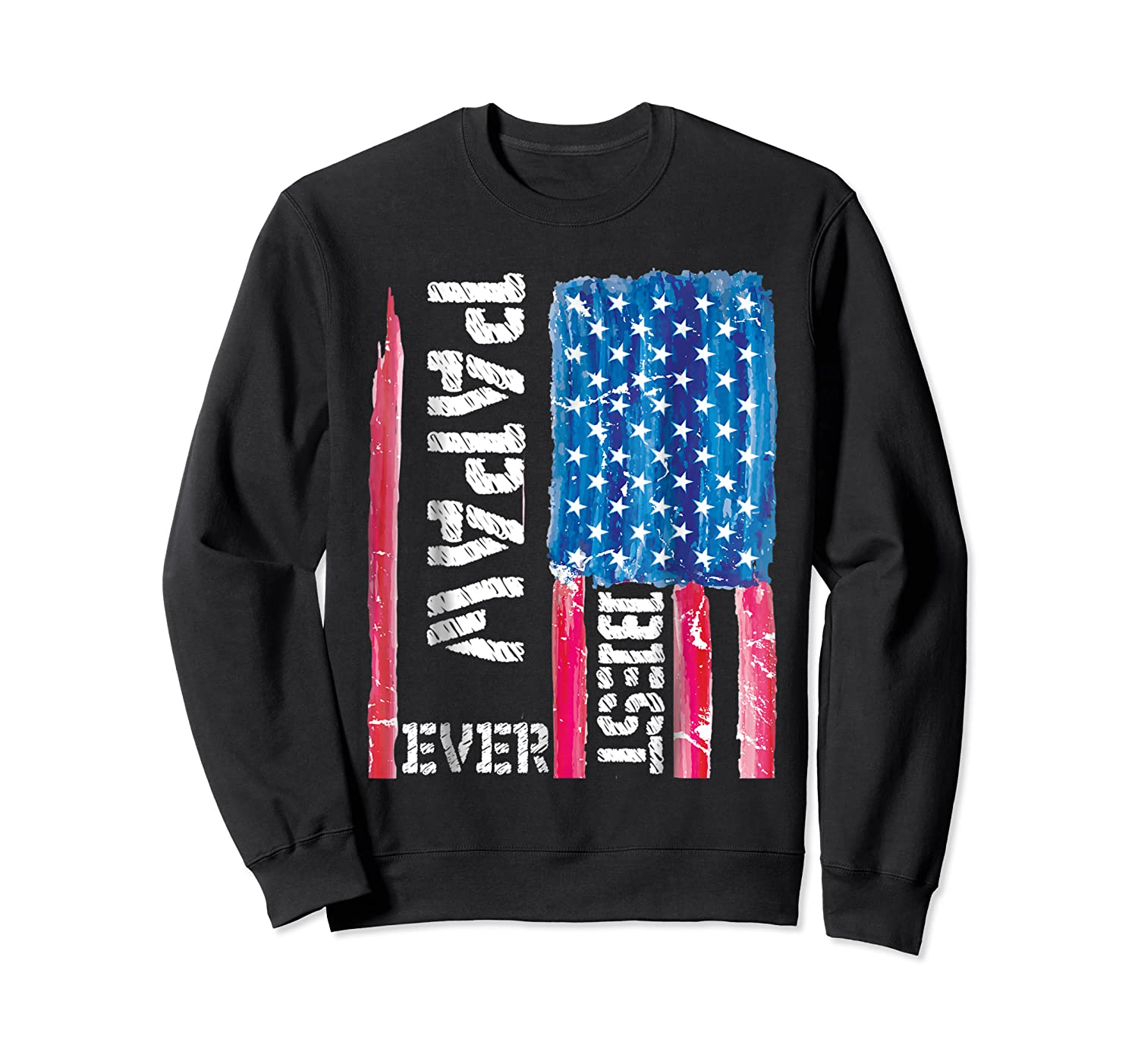 Best Papaw Ever Distressed American Flag For Dad Shirts Crewneck Sweater