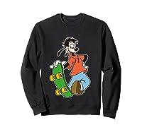 Disney Maxie Skateboard T Shirt Sweatshirt Black