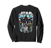S Classic Comic Art Group Shot Darth Vader Shirts Sweatshirt Black