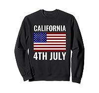 California Independence Day 4th July American Us Flag Gift Shirts Sweatshirt Black