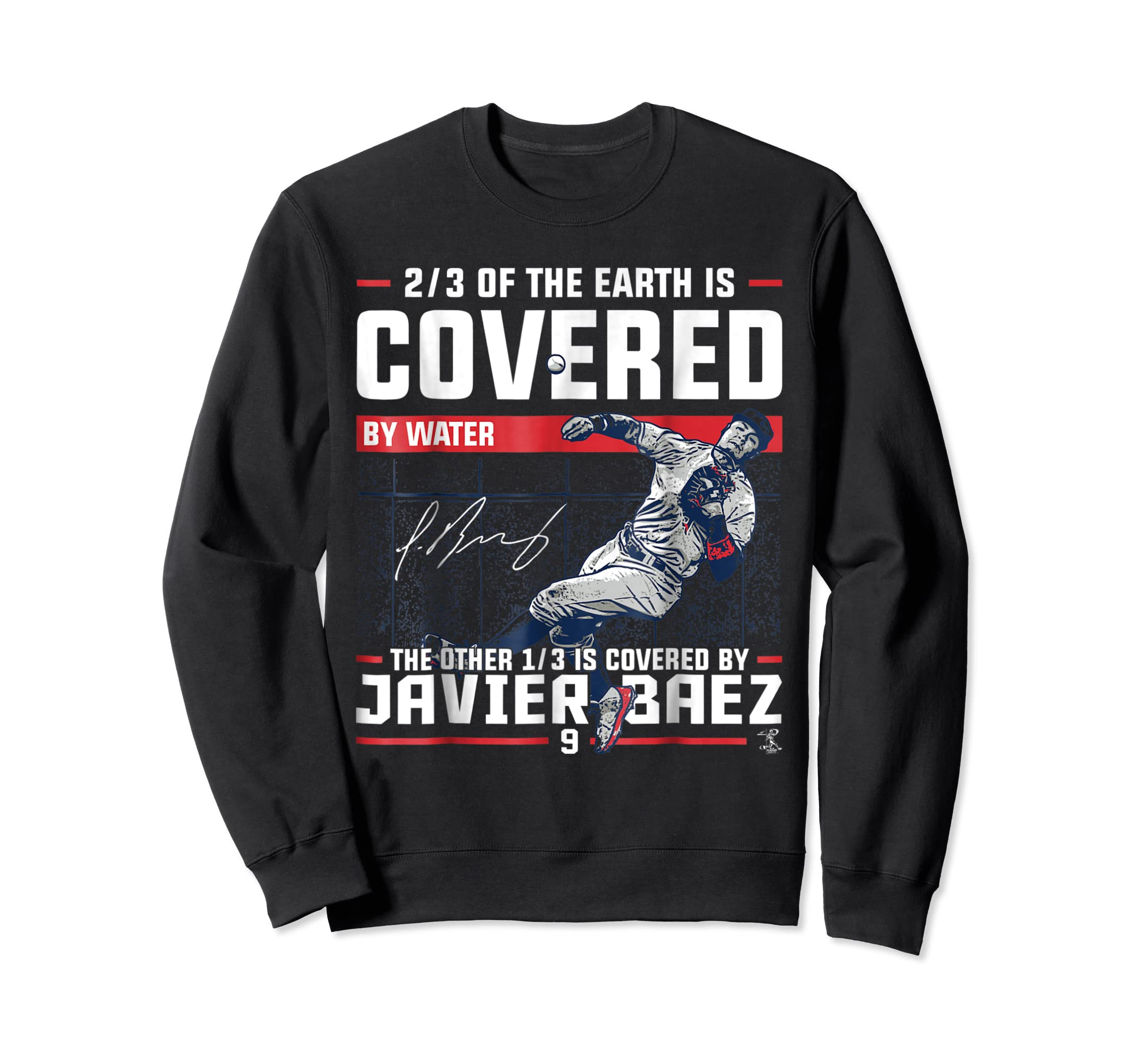 Javier Baez Covered By T-Shirt - Apparel-Sweatshirt-Black