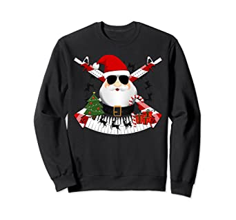 a6c5c0b0 Image Unavailable. Image not available for. Color: Funny AR-15 Santa  Military Christmas Sweatshirt