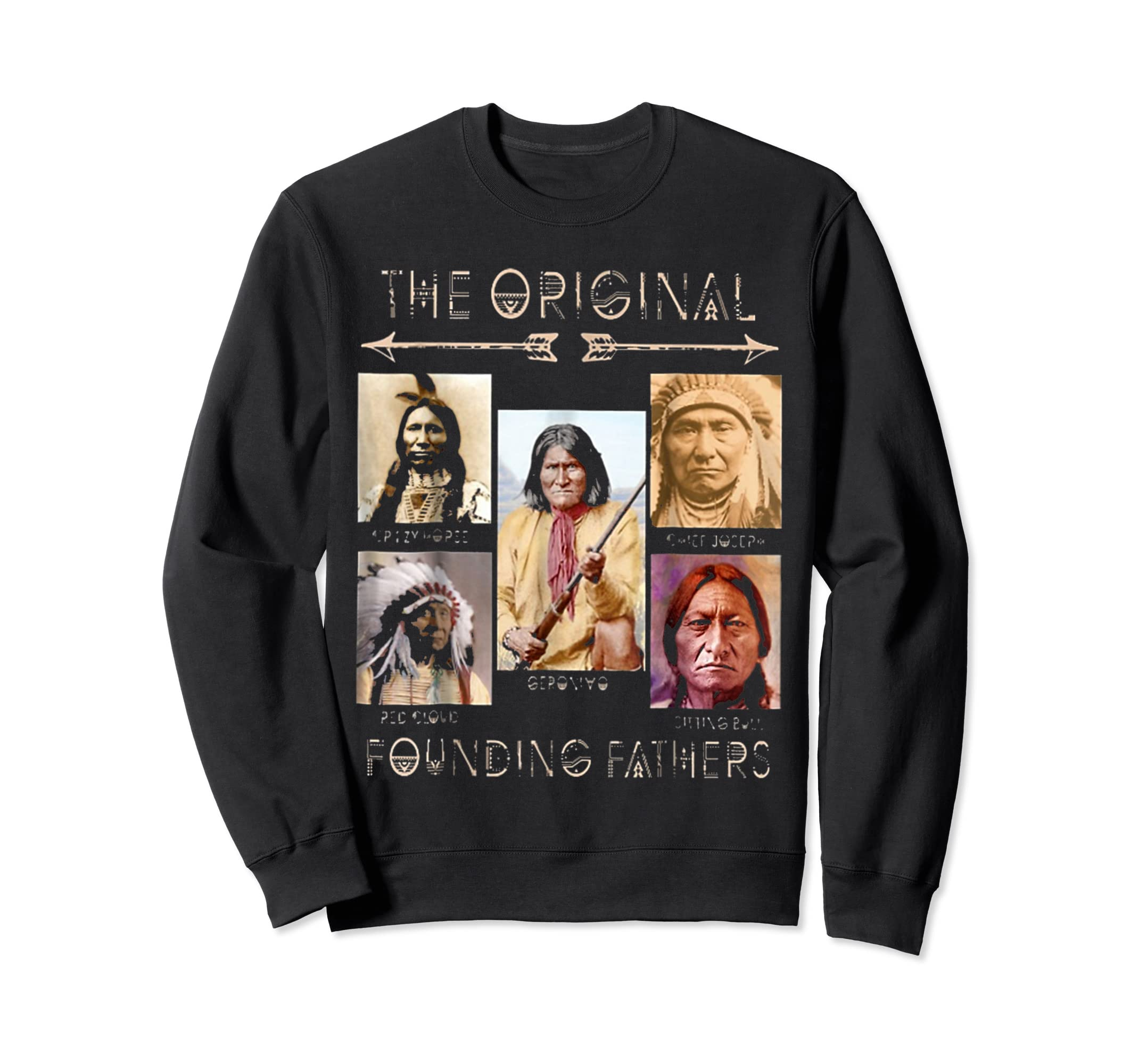 the original founding fathers native classic shirt-Sweatshirt-Black