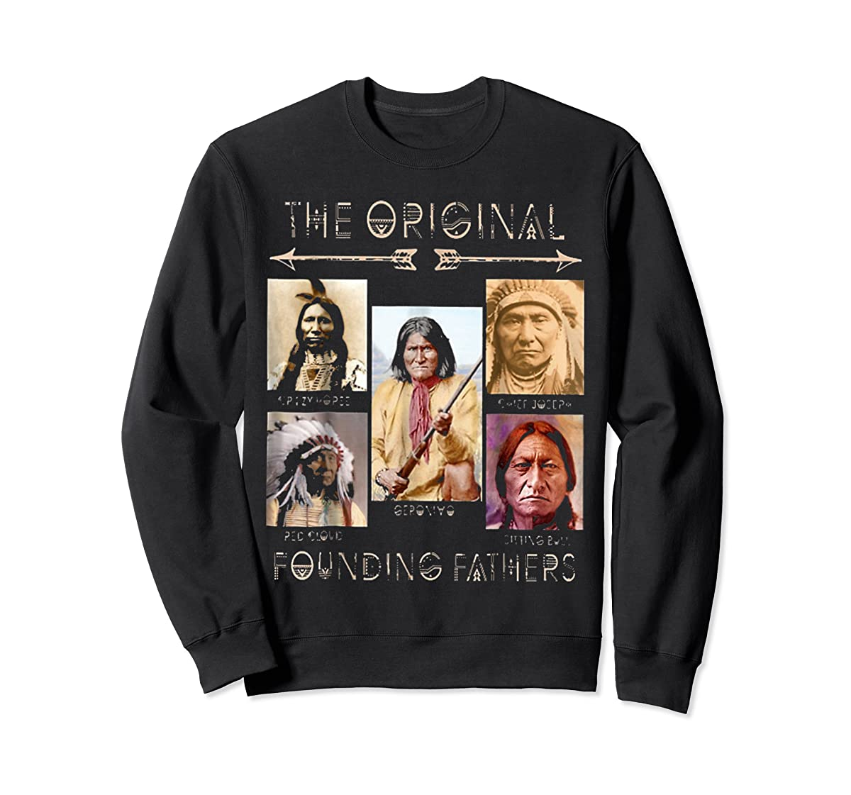 the original founding fathers native classic shirt-Sweatshirt-Black