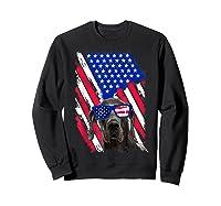 Vintage Great Dane Dog American Usa Flag Distressed Shirts Sweatshirt Black