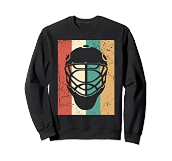 Amazon Com Vintage Hockey Sweatshirt Retro Goalie Mask Sport Gift