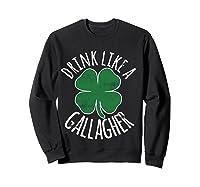 Gllgher St Patrick's Day Beer Irish Shirts Sweatshirt Black