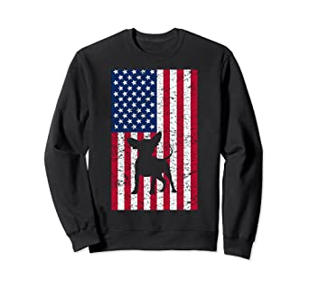 618ba6d79233 Image Unavailable. Image not available for. Color: Chihuahua Chi Dog  America Flag Patriot Sweatshirt Gift