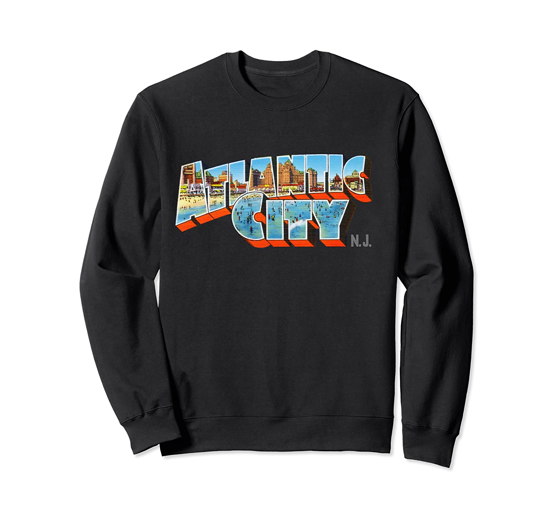 Atlantic City New Nj Vintage Retro Souvenir T Shirt Crewneck Sweater
