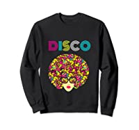 I Love Music Dancer Retro Vintage Disco Ball Disco Gift T Shirt Sweatshirt Black